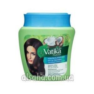 Маска для волос с кокосом vatika cream volume
